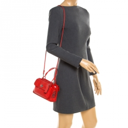 50f11e918 Coach Red Printed Leather Cady Crossbody Bag