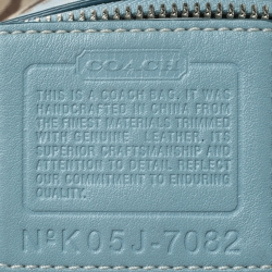 Coach Beige/Sky Blue Canvas and Leather Crossbody Bag