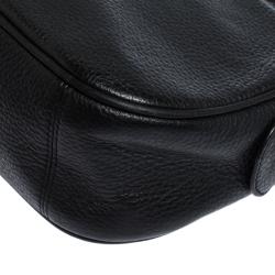 Coach black Leather Isla Chain Crossbody Bag