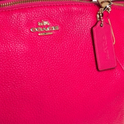 Coach Fuchsia Leather Small Kelsey Satchel