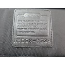 Coach Black Leather/Nylon Laptop Bag