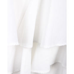 Comme Des Garcons White Tiered Mini Skirt S