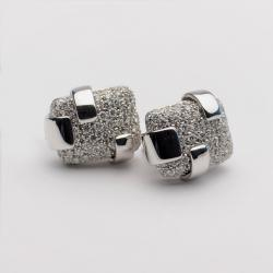 Damiani Diamond Pavé Setting White Gold Clip Earrings