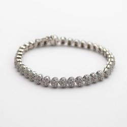 Damiani 18K Diamond Pave Setting Hearts Bracelet