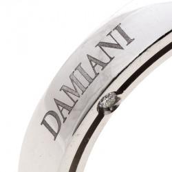 Damiani & Brad Pitt Diamond 18k White Gold Wedding Band Ring Size 58