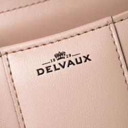 Delvaux Peach Leather Mini Le Brillant Top Handle Bag