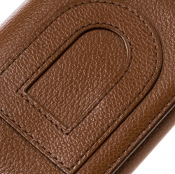 Delvaux Brown Leather Card Holder Wallet