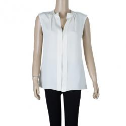 Derek Lam Off-White Silk Top M
