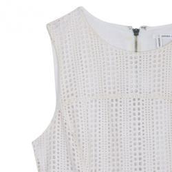 10 Crosby Derek Lam Crochet White Tulip Hem Dress M