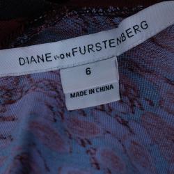 Diane Von Furstenberg Red Bentley Ruched Dress M