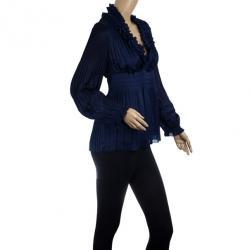 Diane Von Furstenberg Matador Long Sleeve Top S