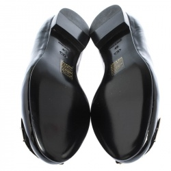 Dior Black Patent Cannage Plaque Ballet Flats Size 40