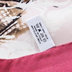 Dior Silhouette Printed Silk La Collection de Christian Dior Scarf