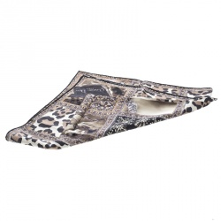 Dior Multicolor Jewel and Animal Printed Silk Square Scarf