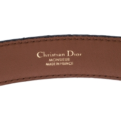 Dior Dark Brown Alligator Leather Buckle Belt 95 CM