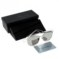 Dior Silver/Black DIOR Sideral 2 JB0SF Cat Eye Sunglasses