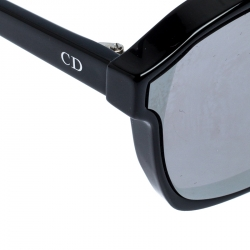 Dior Silver and Black/Grey Mirrored 8070T Dior Abstract Wayfarer Sunglasses