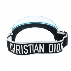 Dior White/Blue Mirrored Dior Club1 Sun Visor