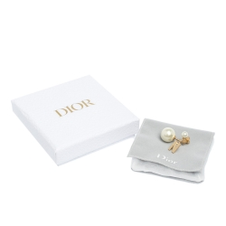 My ABCDior Tribales Faux Pearl Letter N Single Earring