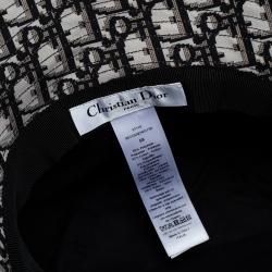 Dior Black Teddy-D Large Brim Veil Trim Bucket Hat