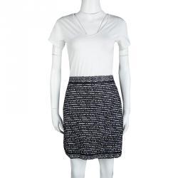 Dior Tricolor Textured Mini Skirt M