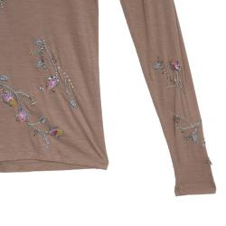 Dior Peach Sequin Embellished Top S