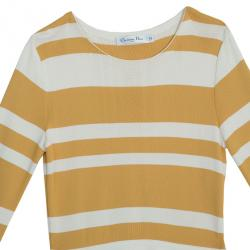 Dior Striped Pleated Top M
