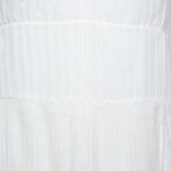 Dior Ivory Plisse Silk Sleeveless Midi Dress S