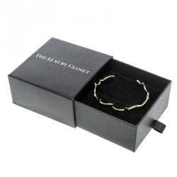 Dior Bois De Rose 18k Rose Gold Narrow Open Cuff Bracelet