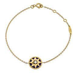 Dior Rose Des Vents Diamond Lapis Lazuli 18K Yellow Gold Bracelet