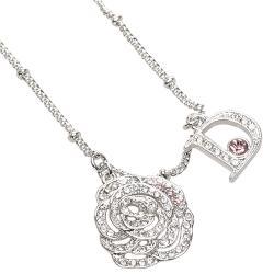 Dior Rose Logo Rhinestone Necklace