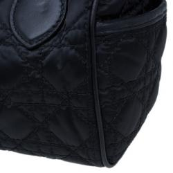 Dior Black Cannage Nylon Satchel
