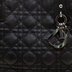 Dior Black Coated Canvas Small Panarea Tote