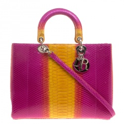 Dior Multicolor Python Large Lady Dior Tote 6696bed69fcf1