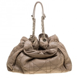 Dior Brown Quilted Cannage Leather Le Trente Hobo