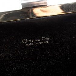 Dior Yellow/Beige Diorissimo Canvas Clutch