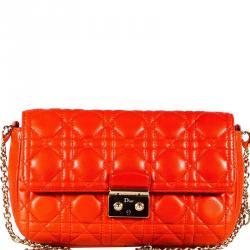 af5f9dbbe08f Dior Orange Cannage Quilted Leather Miss Dior Promenade Clutch Bag
