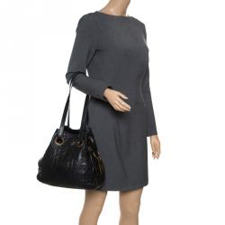 deacaf5b8b6b Dior Black Cannage Leather Bucket Shoulder Bag