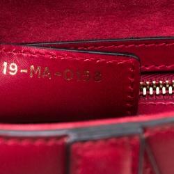 Christian Dior Burgundy Leather Saddle Bag