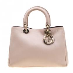 47305088 Dior Blush Pink Leather Medium Diorissimo Shopper Tote