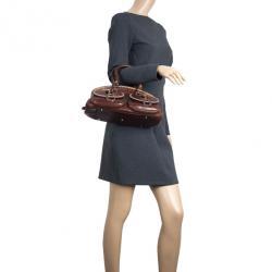 Dior Brown Leather Medium Detective Satchel Bag