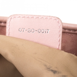 Christian Dior Pink Oblique Canvas and Leather Tote