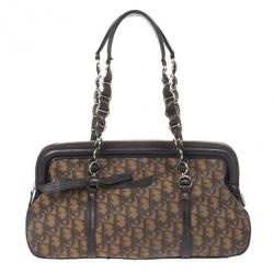 Christian Dior Trotter Romantique Boston Satchel Handbag