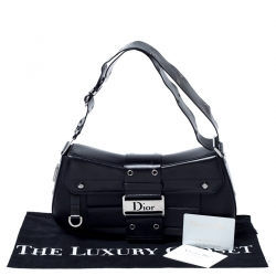 Dior Black Leather Street Chic Shoulder Bag