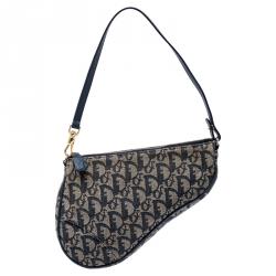 Dior Blue Monogram Denim Saddle Bag