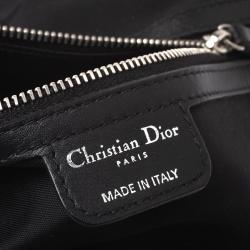 Dior Black Cannage Coated Canvas Small Panarea Tote