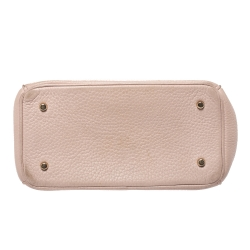 Dior Baby Pink Leather Mini Be Dior Top Handle Bag