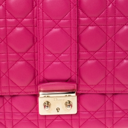 Dior Fuchsia Cannage Quilted Leather Large Miss Dior Flap Bag