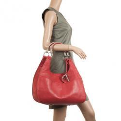 Christian Dior Red Leather Medium 61 Hobo