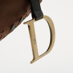 Dior Brown Leather Limited Edition Saddle Bag